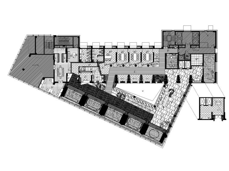 上海珠江铂世·外滩界售楼处精装修施工图