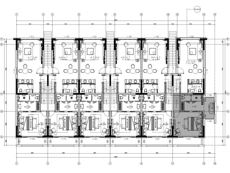 丽江复华度假世界七套别墅CAD施工图+效果图