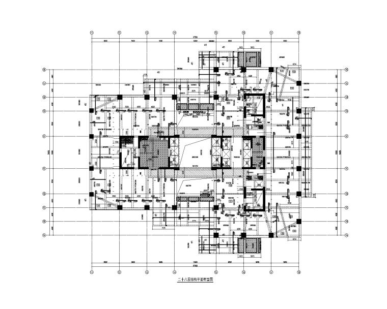 246m超限超高层框架核心筒办公楼建筑结构图