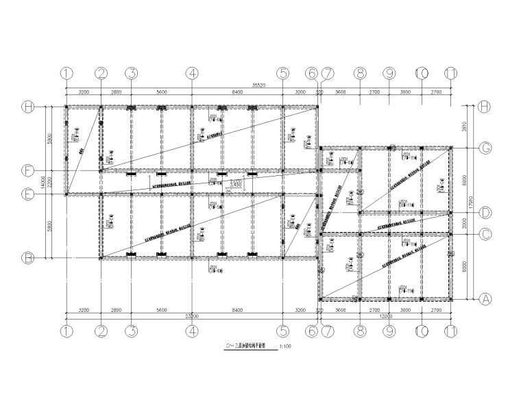 砖混结构小学教学楼加固改造施工图(加建)