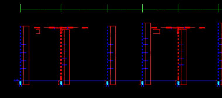 南京住宅项目塔吊安装拆除安全专项施工方案-33现场塔吊立面布置图
