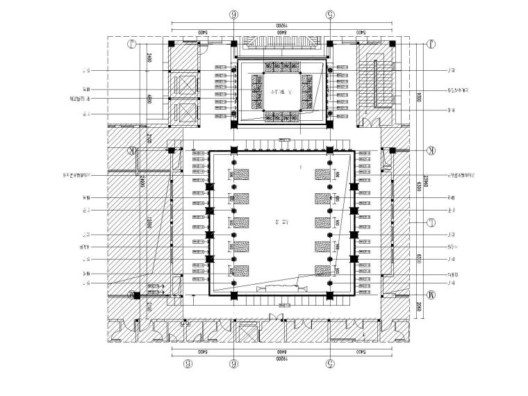 22F-1P大堂平面图