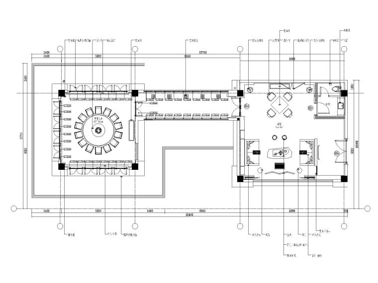 41F-3P中餐厅平面图