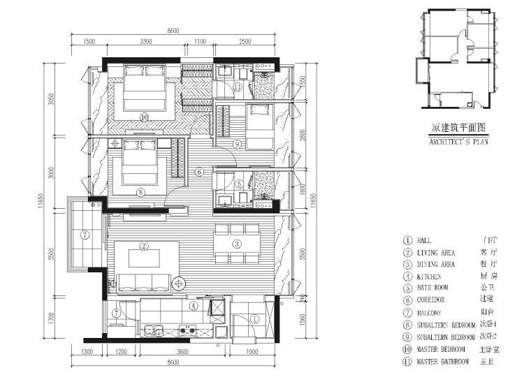 [深圳]DHO-京基长源项目4栋2层B户型图纸
