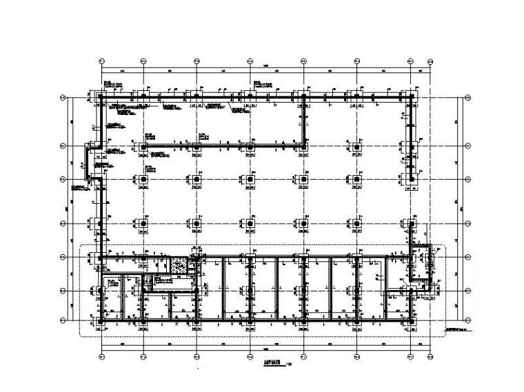 5层框架结构停车场结构施工图2018