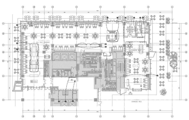深圳希尔顿酒店灯光设计方案+效果图+平面图