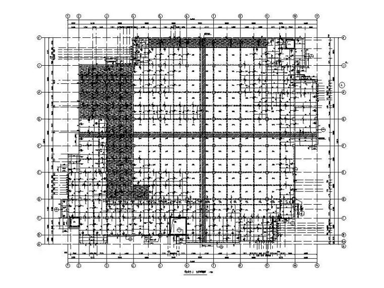 6层框架结构大学学生食堂结构施工图2013