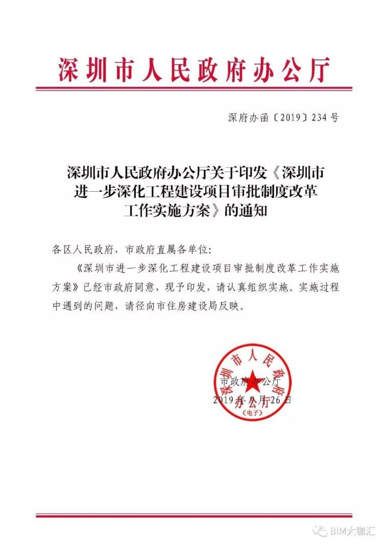 深圳取消图审,建立BIM审批平台,精简优化