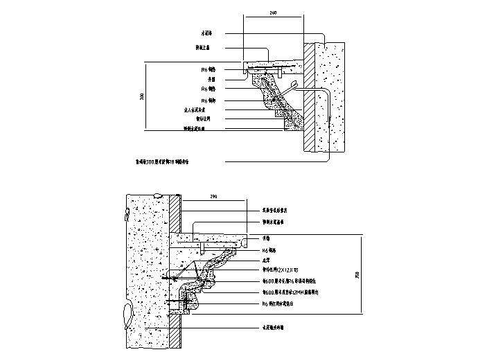 欧式常用构件CAD大样图(线板、柱式系列)