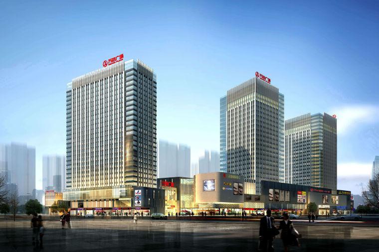 [湖北]菱角湖商业万达广场建筑设计