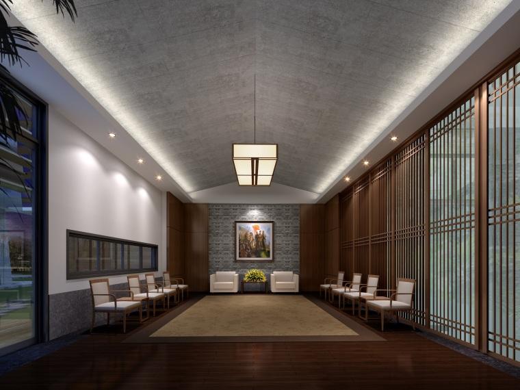 ECADI-广西学院室内设计方案+效果图