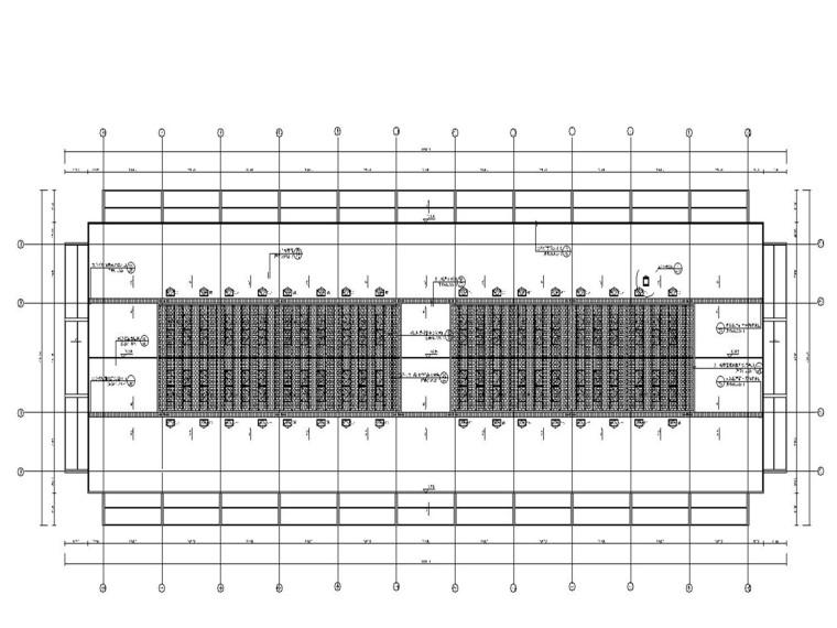 物流产业园大型交易大厅电气施工图