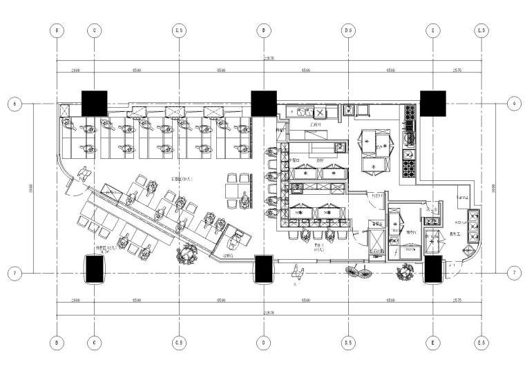上海舞伎日式居酒屋效果图+SU模型+施工图