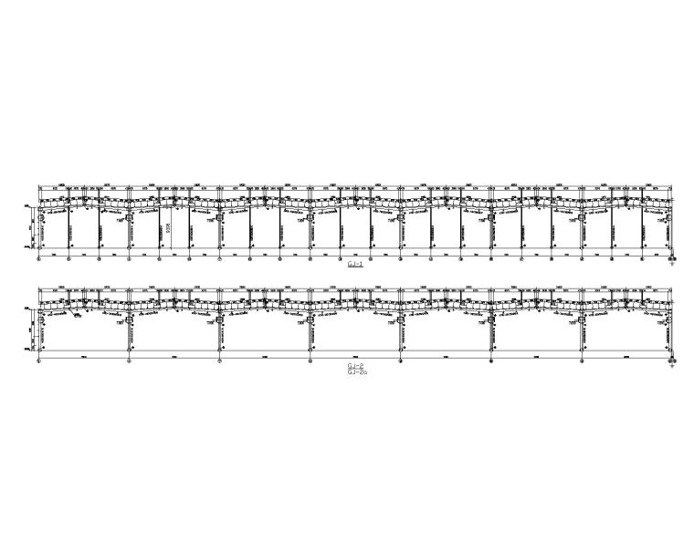 门式刚架加工车间建筑结构施工图(带吊车梁)