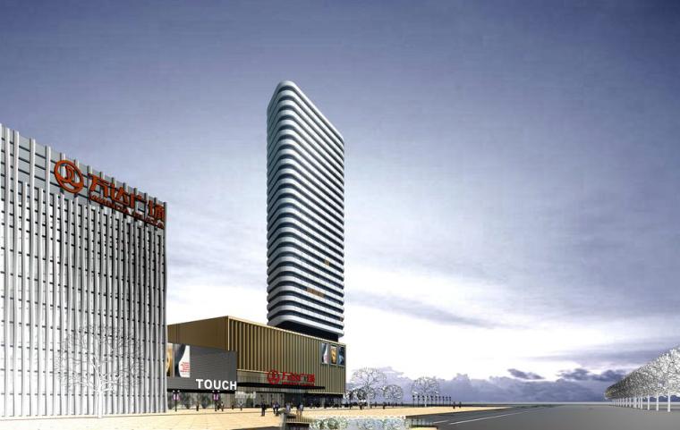 现代风格陵水湾万达建筑模型设计
