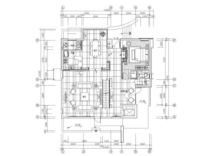 [北京]-天竺澳景园别墅C户型全套施工图