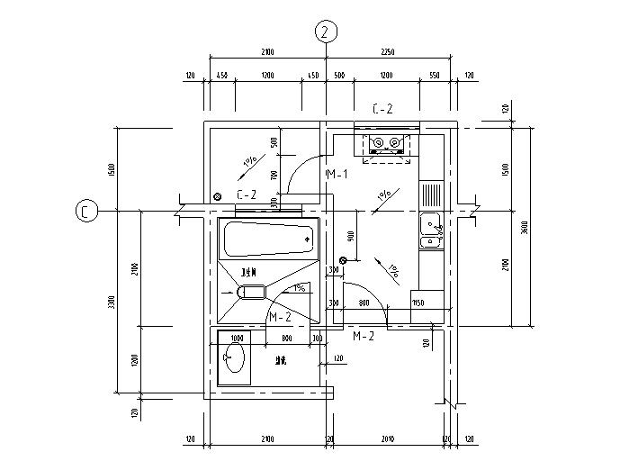 13套厨房厕所建筑施工大样图(CAD)