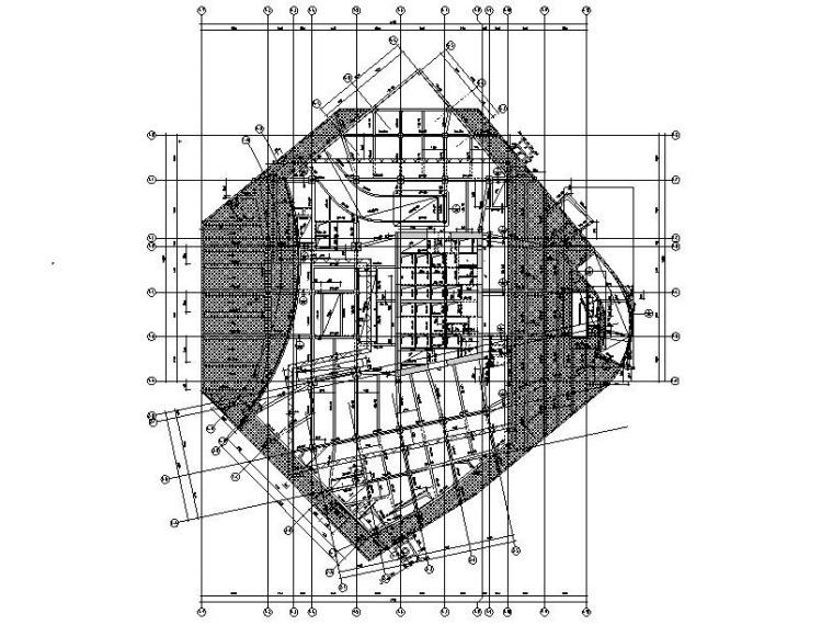 180m超高层框筒结构办公楼建筑结构施工图