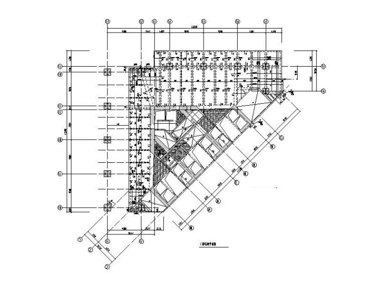 201m框架-偏置筒体结构办公大厦结构施工图