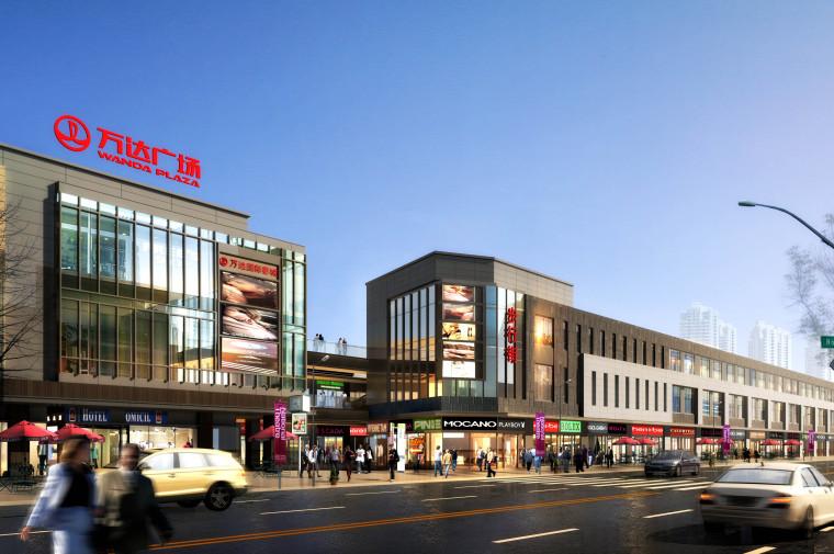 [河南]现代风格万达广场建筑模型设计