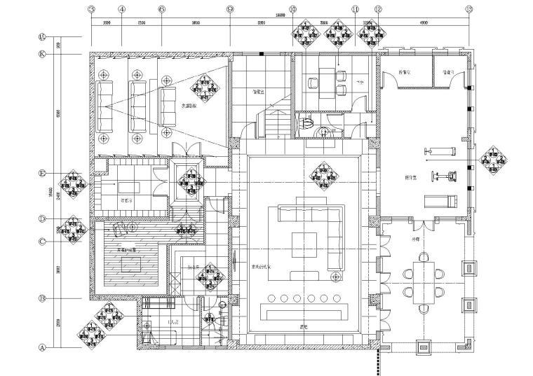 [重庆]红鼎别墅样板房C1C3施工图+效果图