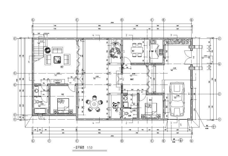 北方四合院建筑住宅楼户型设计图