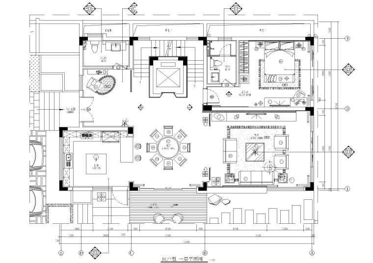 [山东]一套完整别墅施工图+文本+效果图