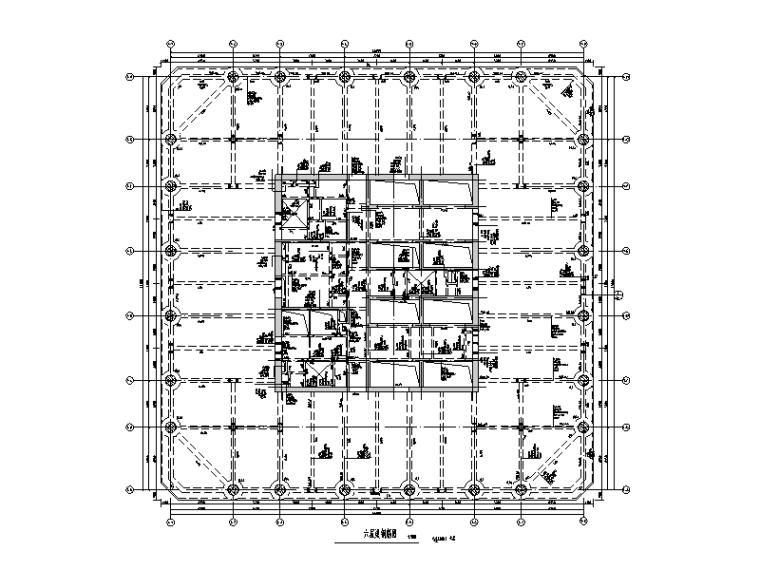 36层框架-核心筒办公楼结构施工图(钢骨柱)