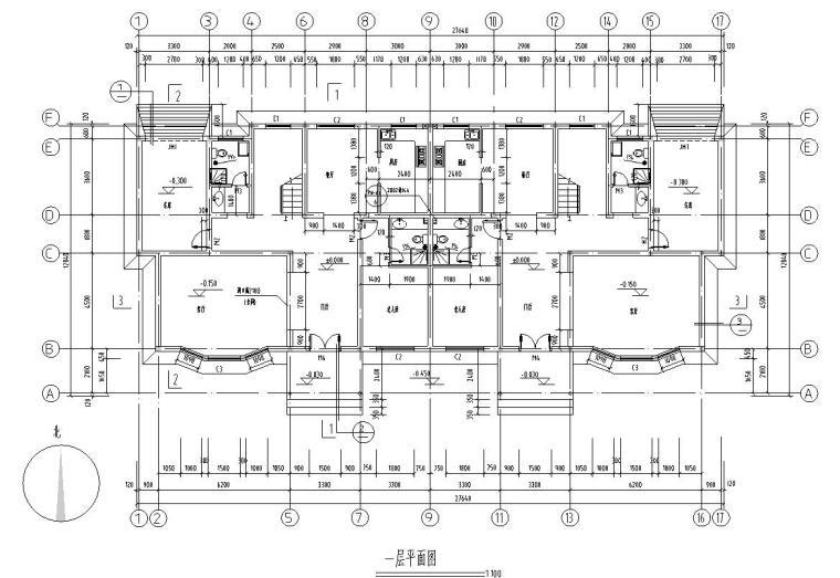 多层住宅建筑住宅楼户型设计图