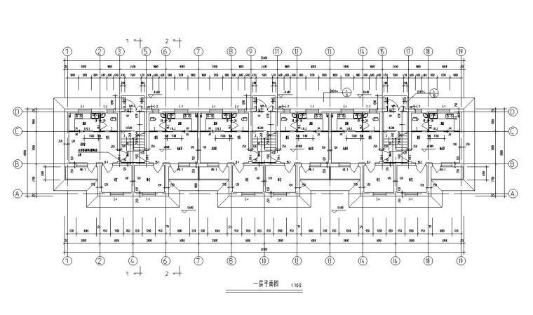 多层宿舍楼户型设计图