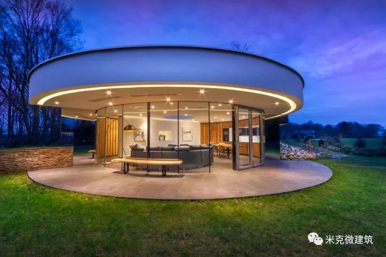 现代圆形景观别墅