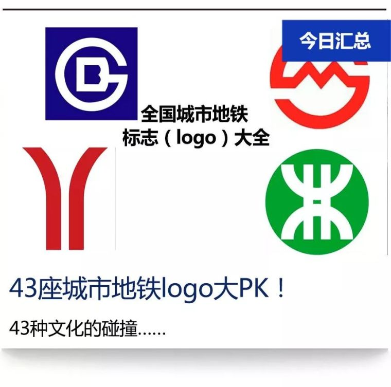 我国43座城市地铁标志(logo)及含义新解