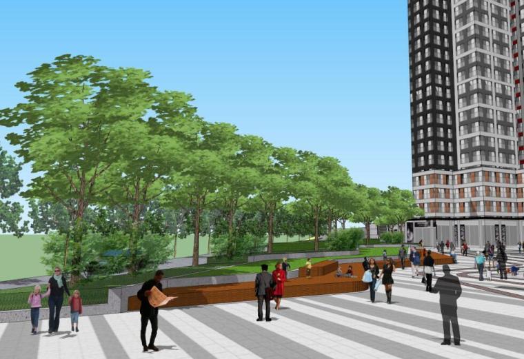 [重庆]现代风格住宅商业广场街景观方案