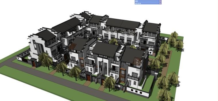 徽派中式合院建筑模型设计