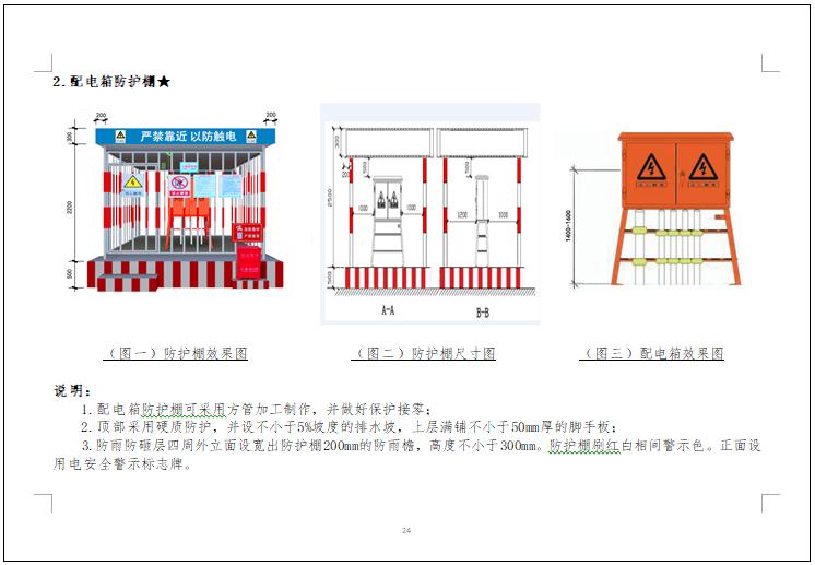 [北京]施工现场安全生产标准化管理图集-配电箱防护棚