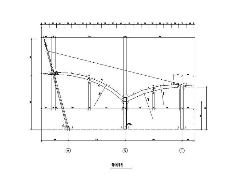 公交车站钢结构施工图