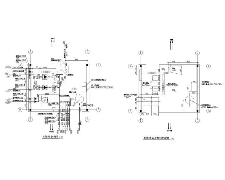消防泵房及消防水池给排水设计施工图