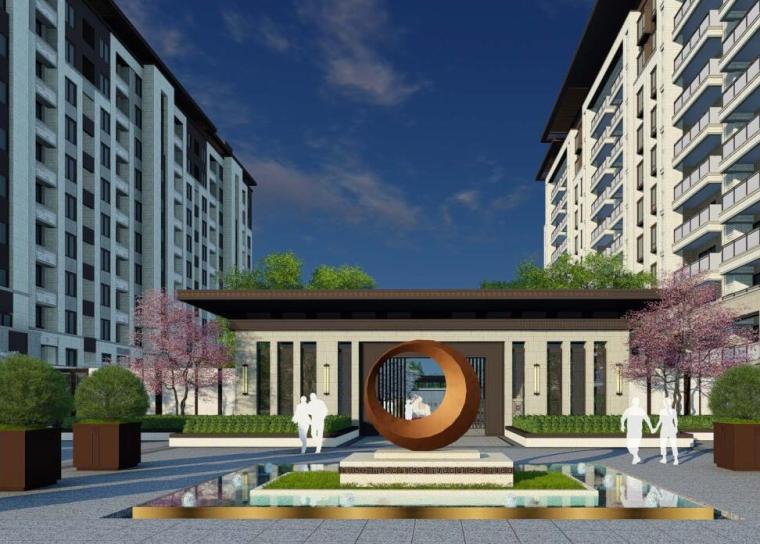 [山东]新中式风格玺樾大区景观概念设计