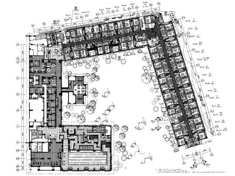 LTW-拉萨香格里拉酒店客房区CAD施工图