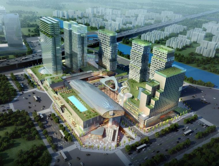 城市综合体设计案例效果图