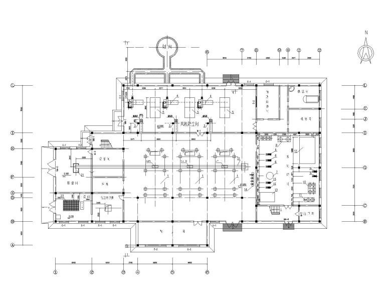 北京地区15万平米居住小区锅炉房工艺设计图