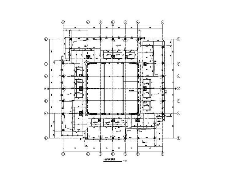 280m框筒金融大厦建筑结构图(桁架式楼板)