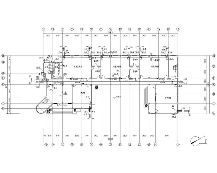 某中学科技图书楼给排水施工图