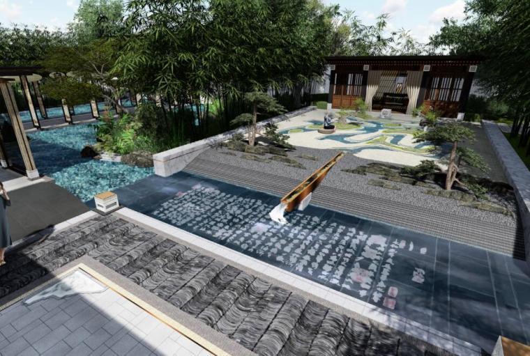 [上海]中式风格高档居住院子景观方案设计