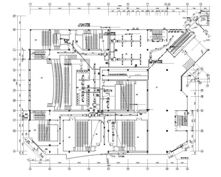 湖南浏阳某电影院中央空调系统设计施工图