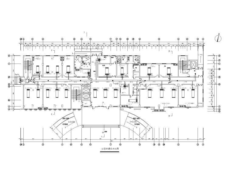 浙江岱山某医院住院楼中央空调设计施工图