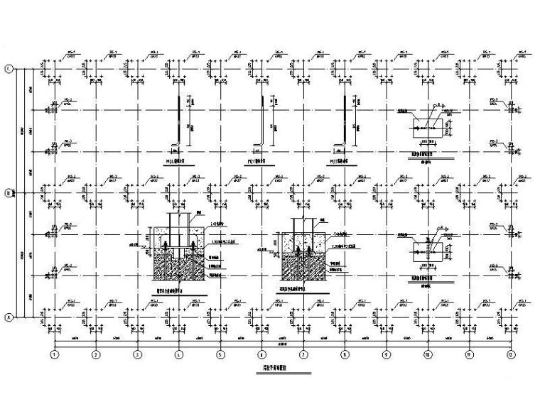 36米轻钢结构厂房结构施工图纸