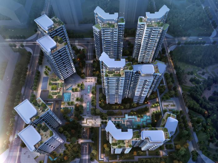 广州南沙新区明珠湾江景高层建筑设计文本