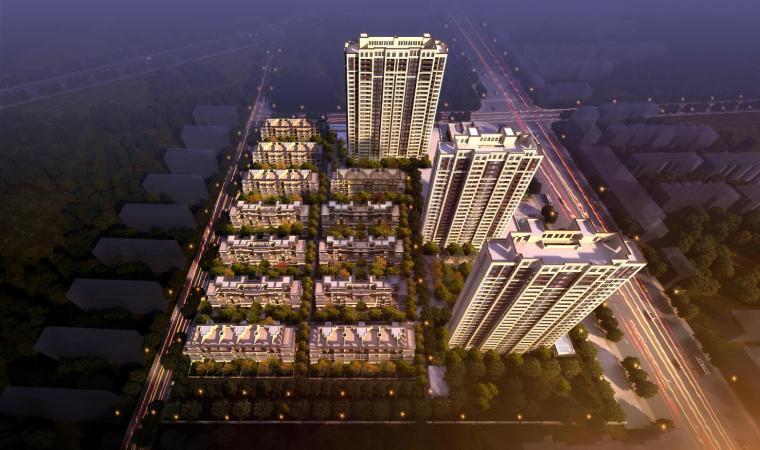 现代风格住宅建筑模型设计