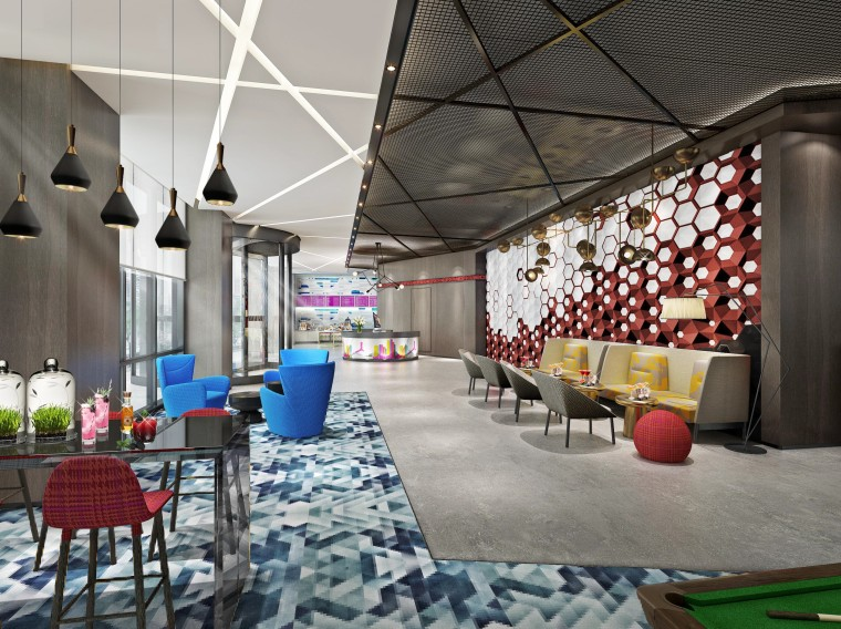 Aloft·天津雅乐轩酒店丨设计方案+效果图